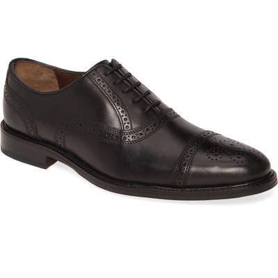 Johnston & Murphy Daley Medallion Toe Oxford, Black