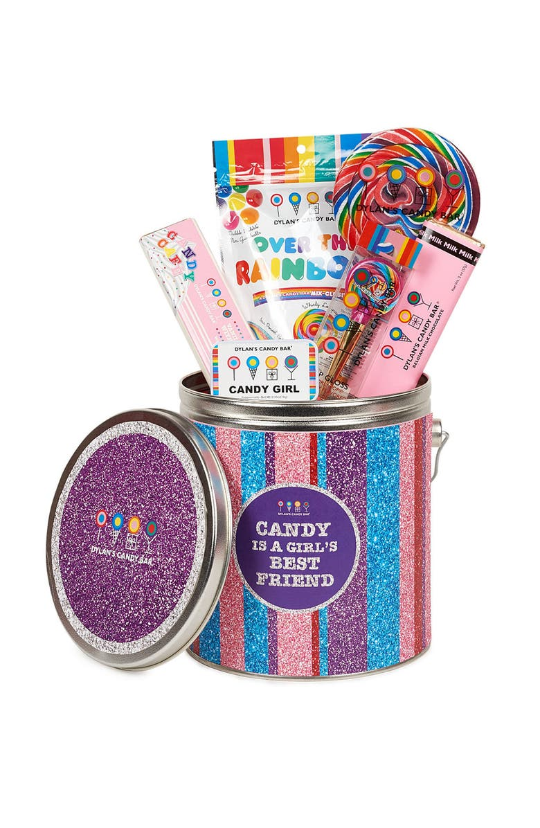 DYLAN'S CANDY BAR Candy Is a Girl's Best Friend Bucket, Main, color, PINK MULTI