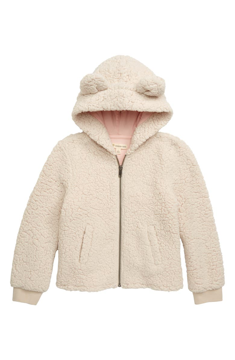 TUCKER + TATE Cozy Fleece Hooded Jacket, Main, color, BEIGE VANILLA