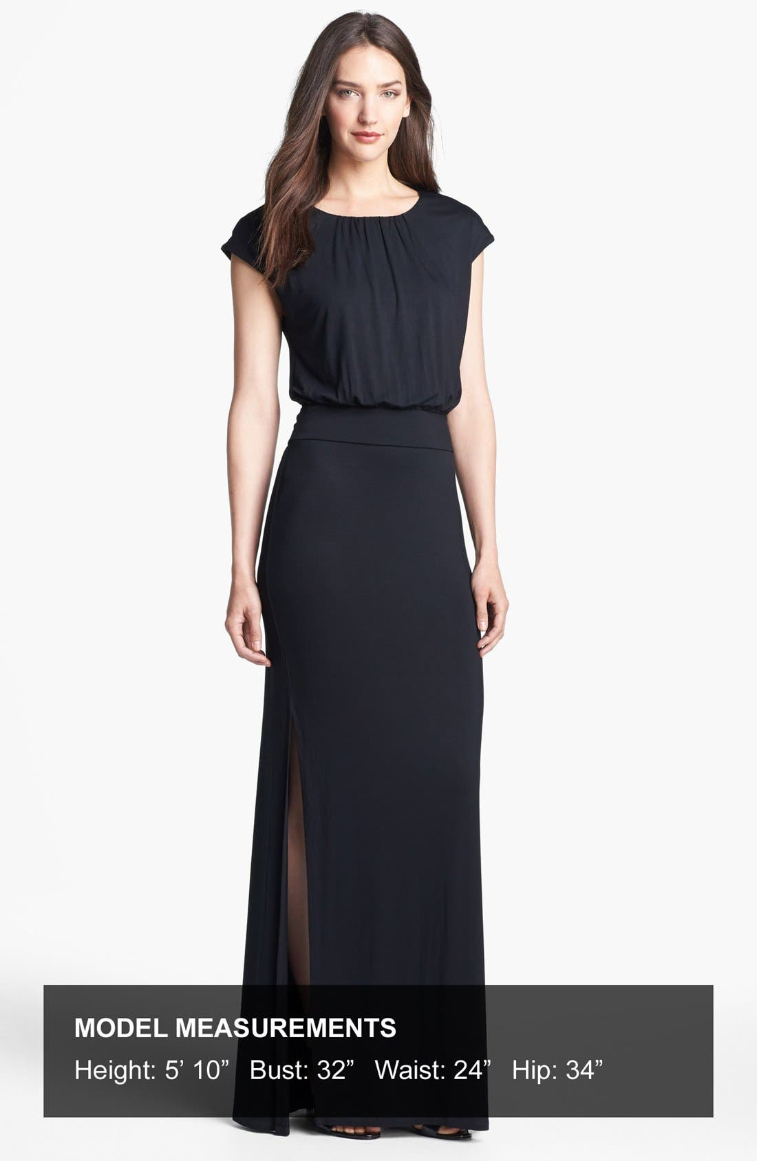 ,                             'Vienna' Blouson Maxi Dress,                             Alternate thumbnail 6, color,                             001
