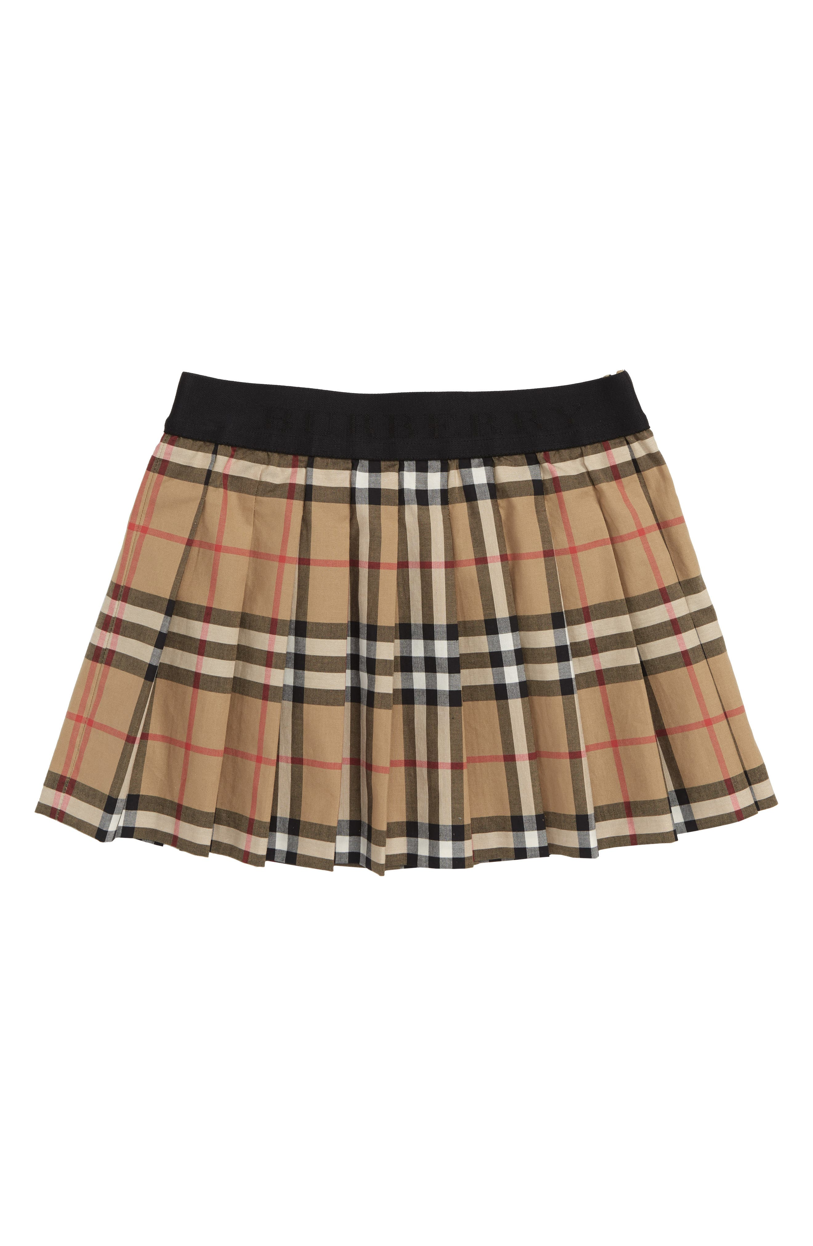 Girls Burberry Mini Pansie Check Skirt Size 8Y  Yellow