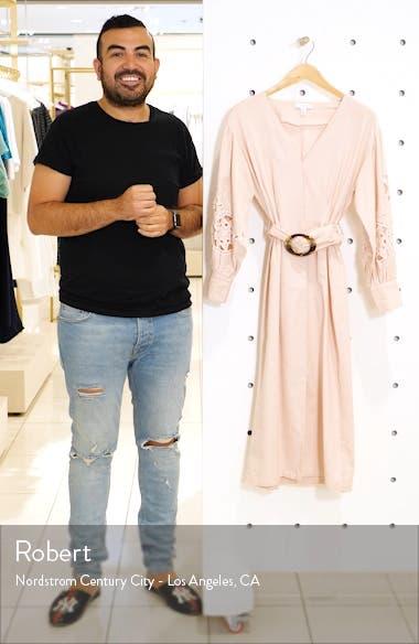 Cutwork Long Sleeve Midi Dress, sales video thumbnail