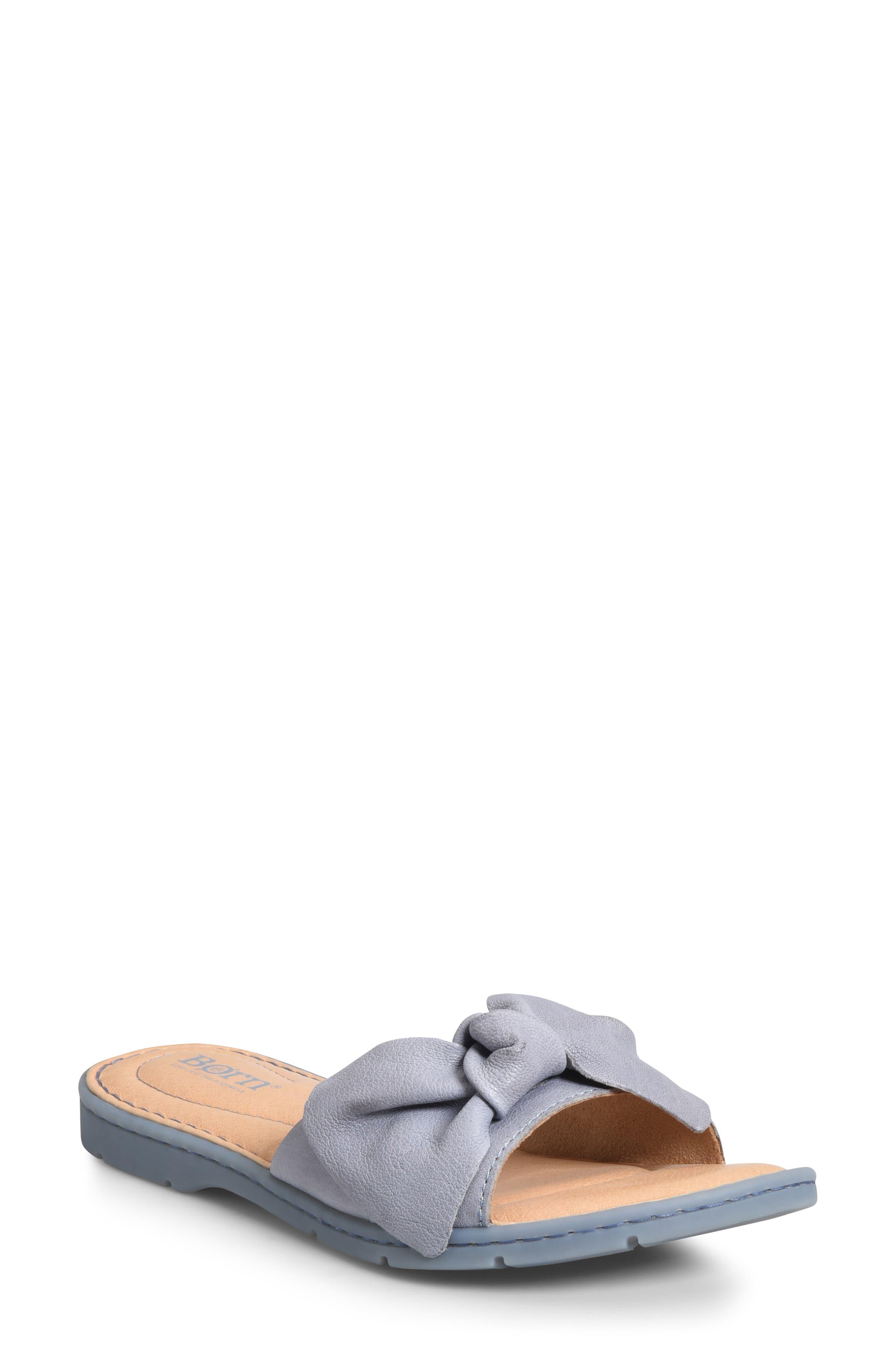 B?rn Teton Knotted Slide Sandal, Blue