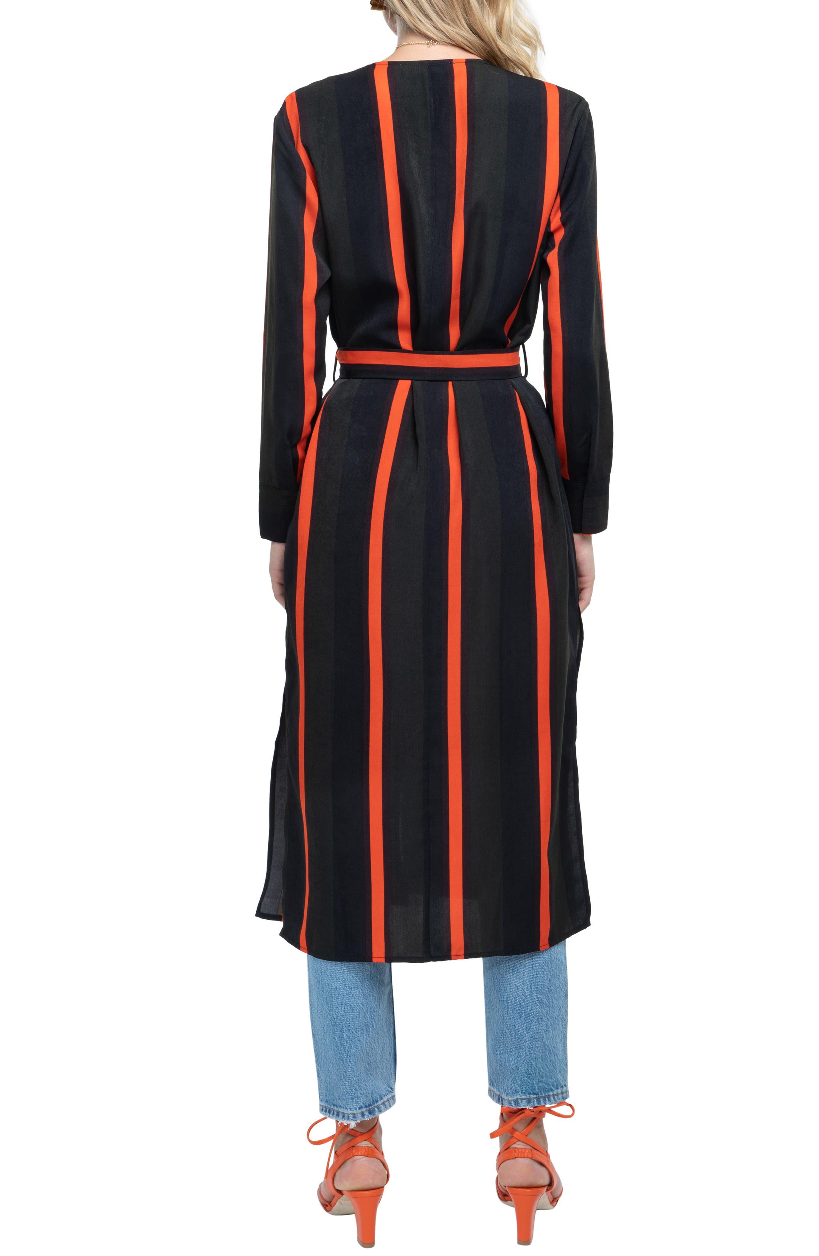 ,                             Stripe Wrap Dress,                             Alternate thumbnail 4, color,                             300