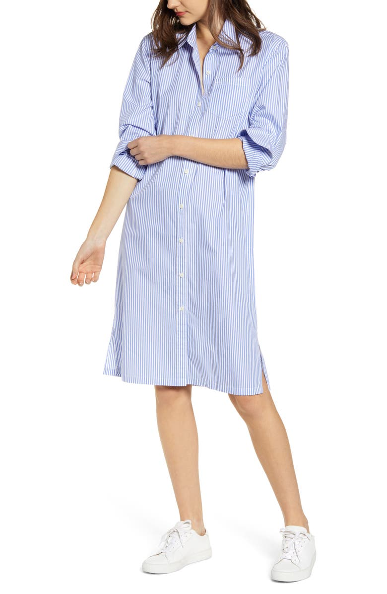 ALEX MILL Stripe Midi Shirtdress, Main, color, 461