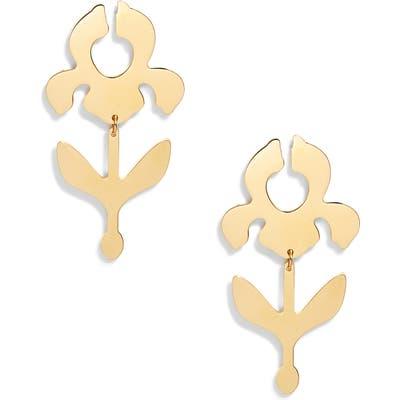 Lele Sadoughi Iris Stem Shadow Drop Earrings