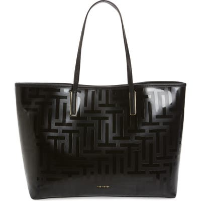 Ted Baker London Eleenor Logo Nylon Shopper Tote - Black