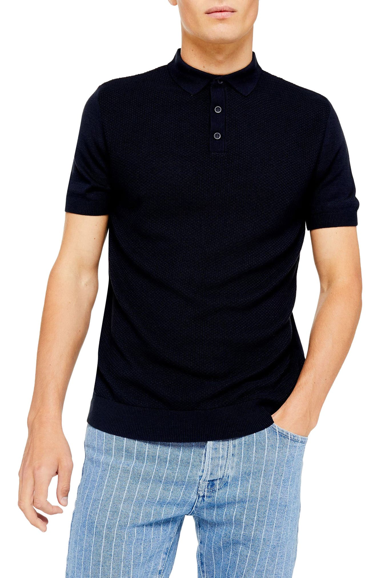 Vintage Shirts – Mens – Retro Shirts Mens Topman Classic Sweater Polo Shirt Size XX-Large - Blue $45.00 AT vintagedancer.com