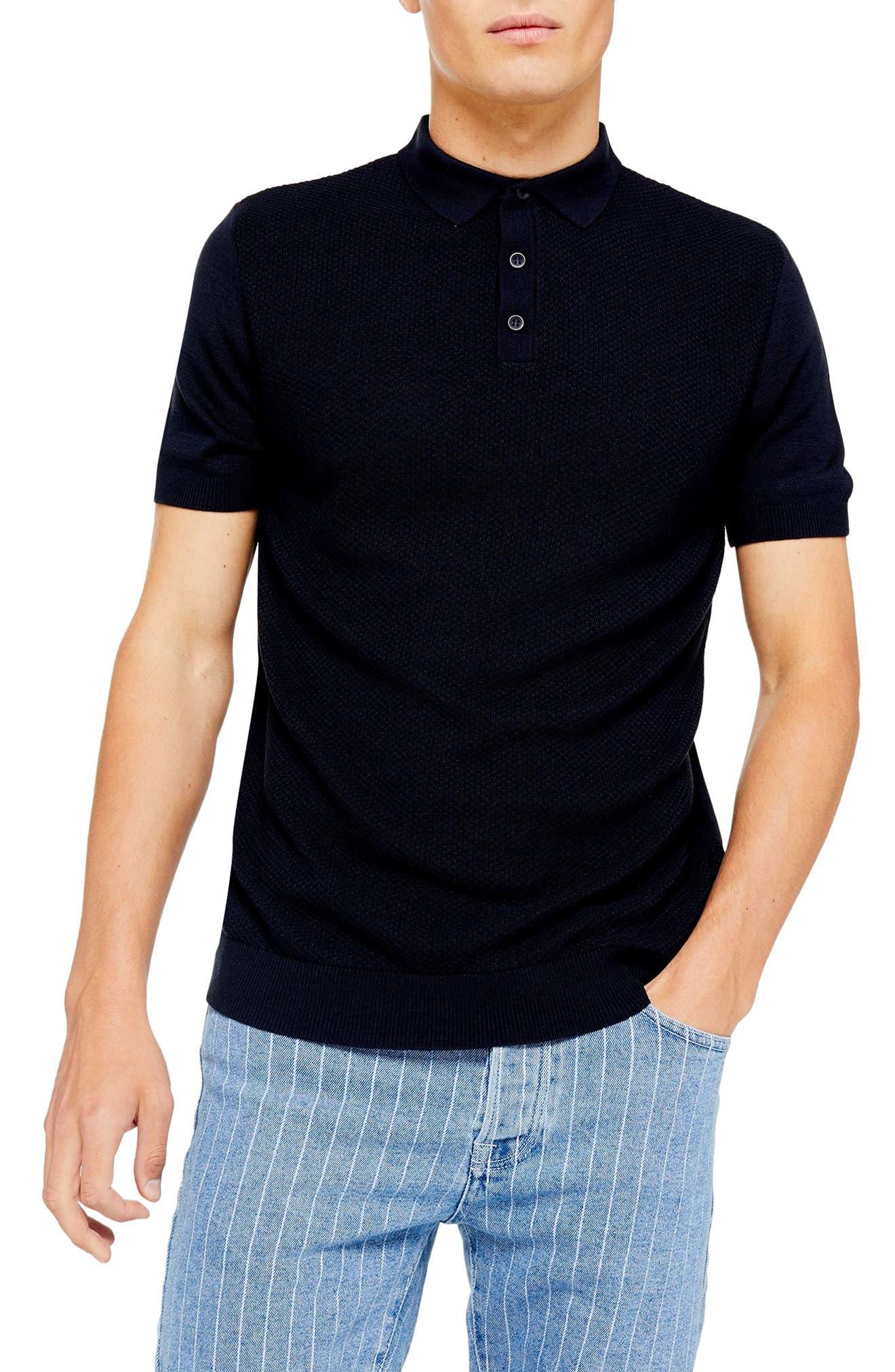 1930s Mens Shirts | Dress Shirts, Polo Shirts, Work Shirts Mens Topman Classic Sweater Polo Shirt Size XX-Large - Blue $45.00 AT vintagedancer.com