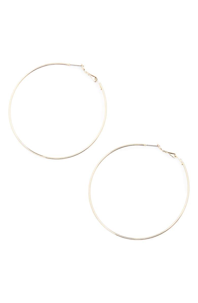 BP. Large Hoop Earrings, Main, color, 710