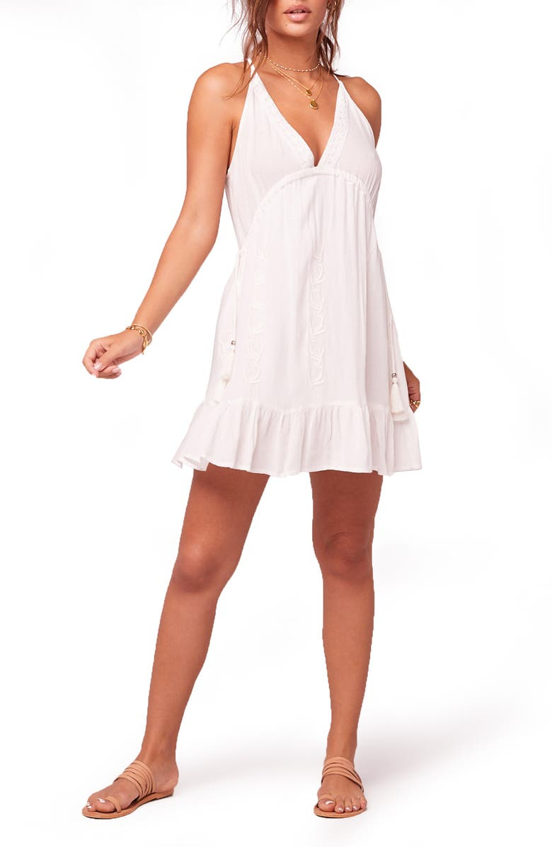 BAND OF GYPSIES Just a Friend Minidress, Main, color, IVORY