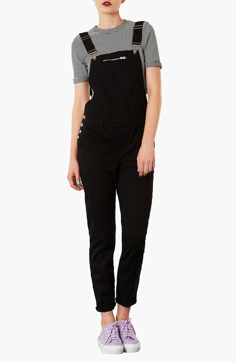 TOPSHOP 'Dill' Overalls, Main, color, 001