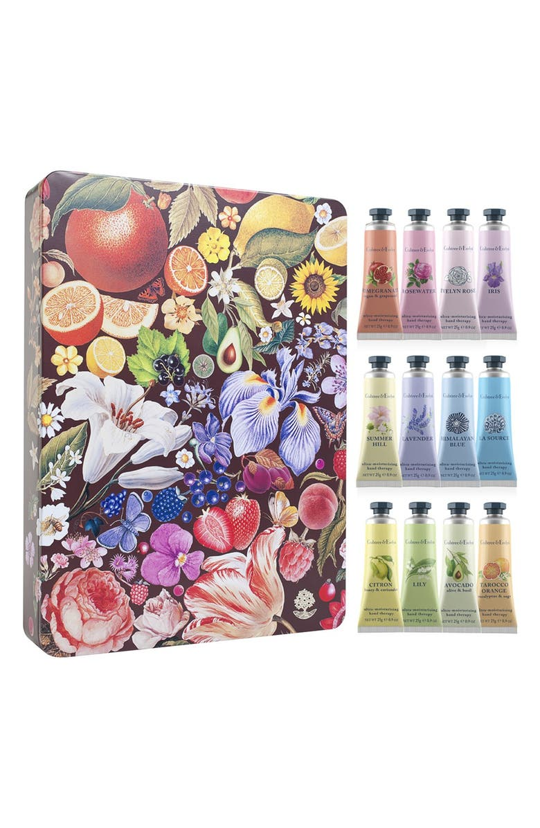 CRABTREE & EVELYN 'Hand Therapy' Paint Tin Box Set, Main, color, 000