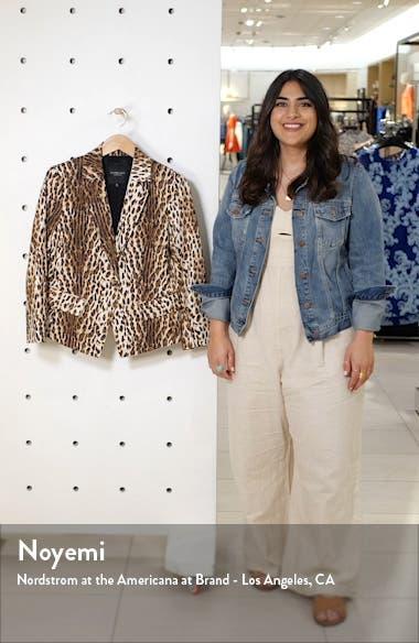 Leopard Print Classic Shrunken Blazer, sales video thumbnail