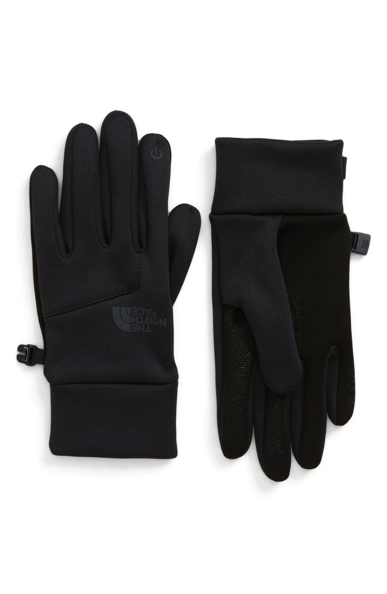 THE NORTH FACE Etip Hardface Gloves, Main, color, BLACK HEATHER