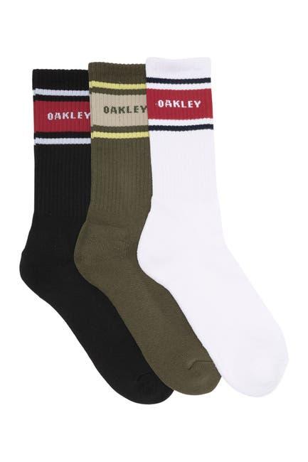 Image of Oakley Logo Stripe Socks - Pack of 3
