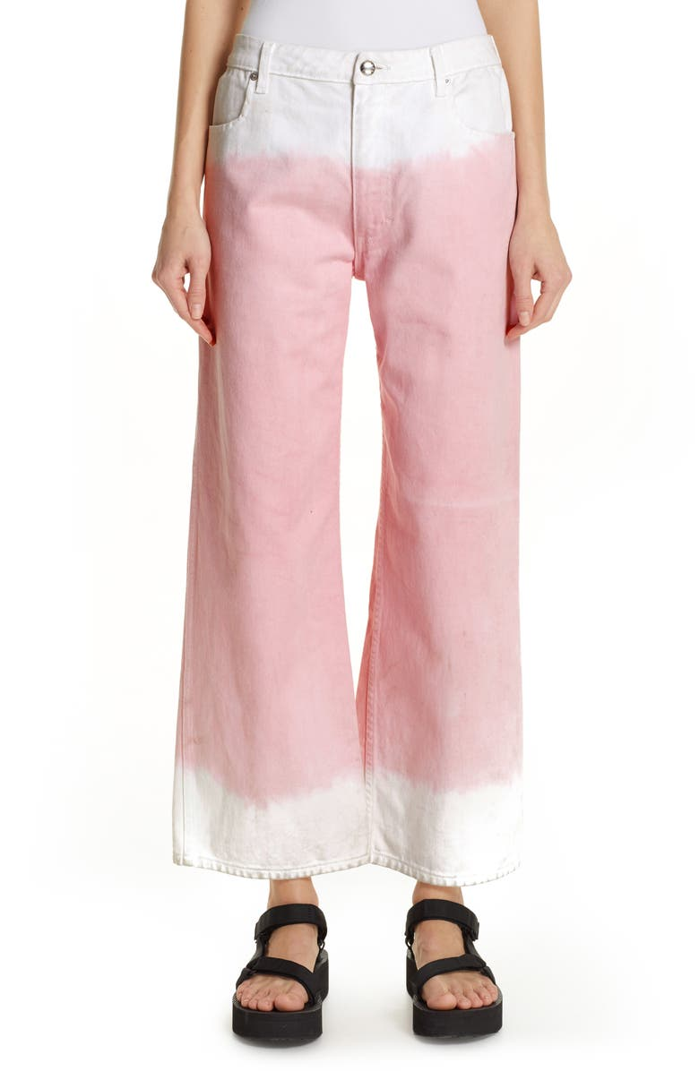 ECKHAUS LATTA Dip Dye Wide Leg Jeans, Main, color, 650