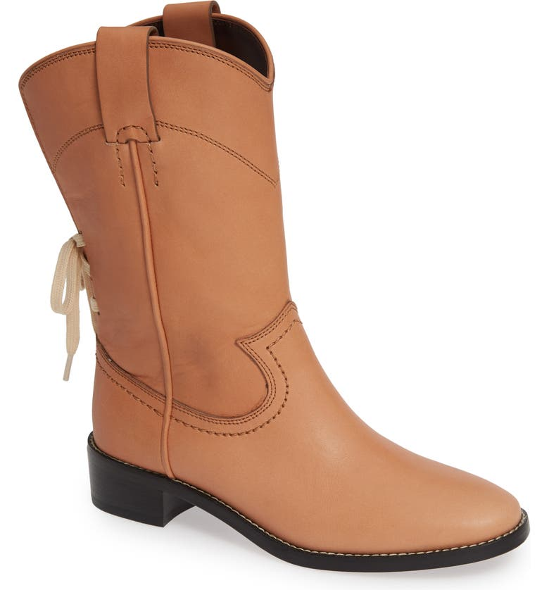 SEE BY CHLOÉ Annika Split Shaft Western Boot, Main, color, 250