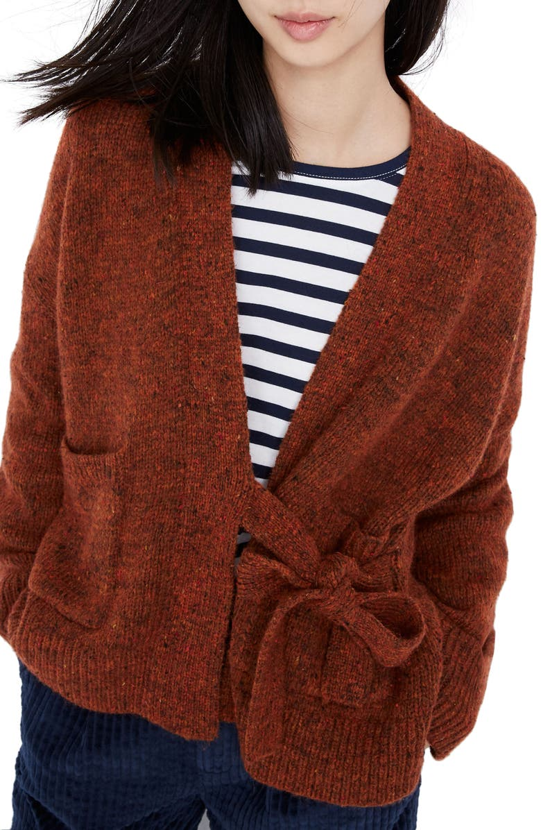 MADEWELL Loring Wrap Cardigan, Main, color, DONEGAL BISON