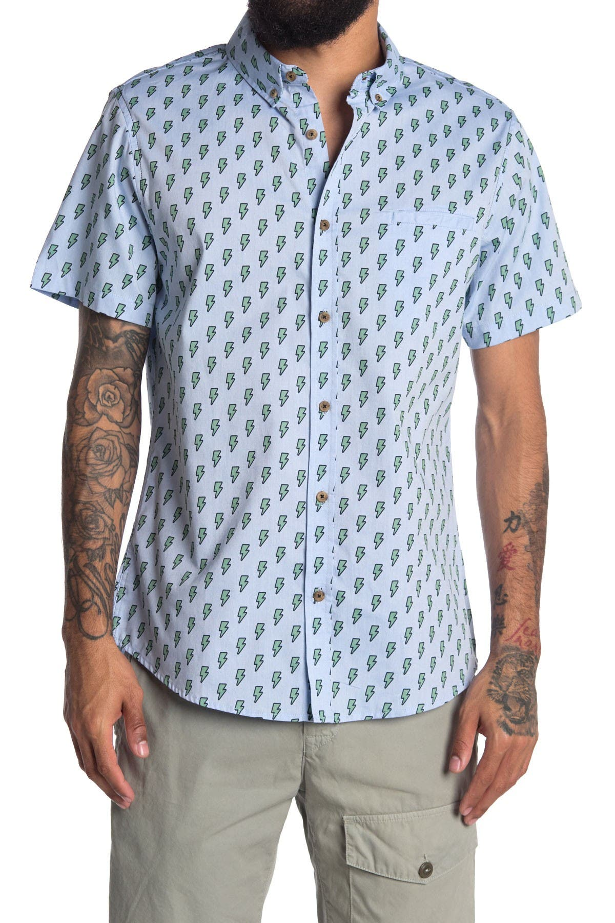 Image of Sovereign Code Dover Patterned Button Up Shirt