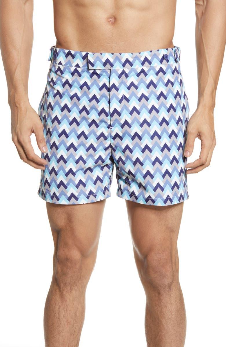 FRESCOBOL CARIOCA Parquet Tailored Swim Shorts, Main, color, 400