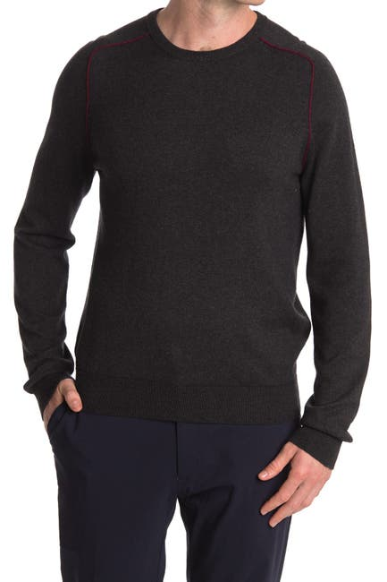 Image of Stewart of Scotland Contrast Trim Pullover Sweater