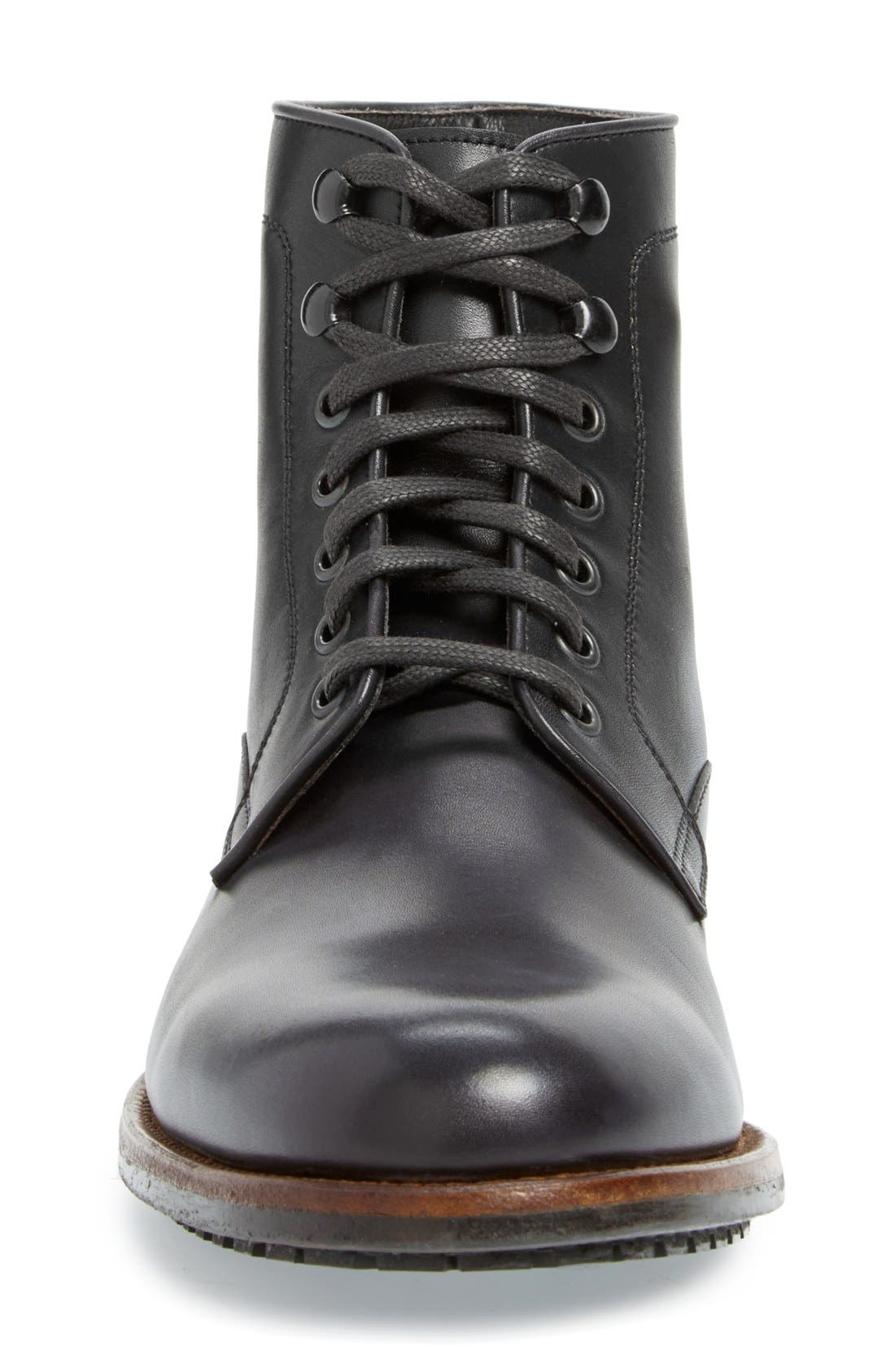 ,                             'Marcelo' Plain Toe Boot,                             Alternate thumbnail 4, color,                             001