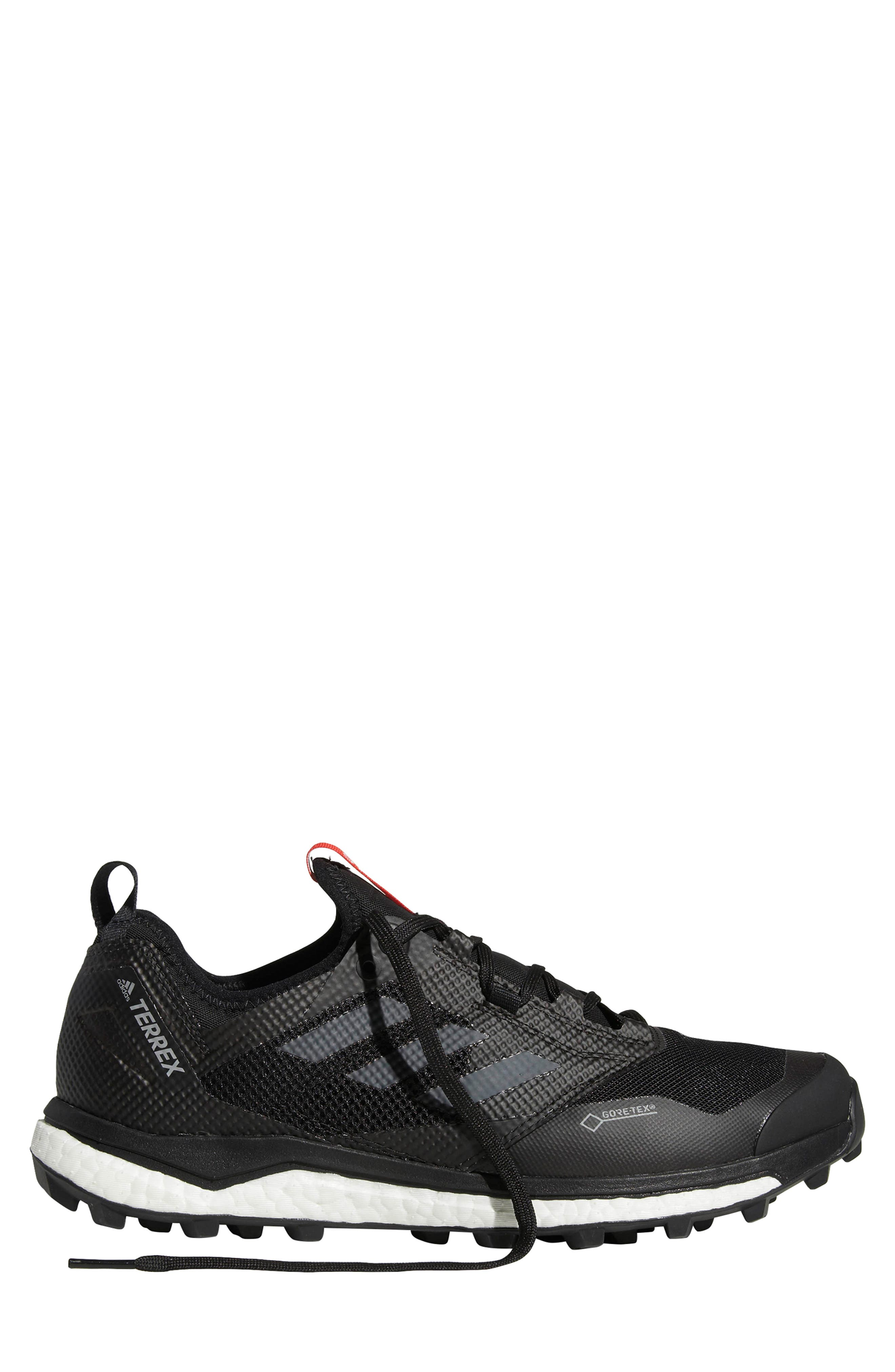 ,                             Terrex Agravic XT Gore-Tex<sup>®</sup> Waterproof Trail Running Shoe,                             Alternate thumbnail 9, color,                             BLACK/ GREY/ HI-RES RED