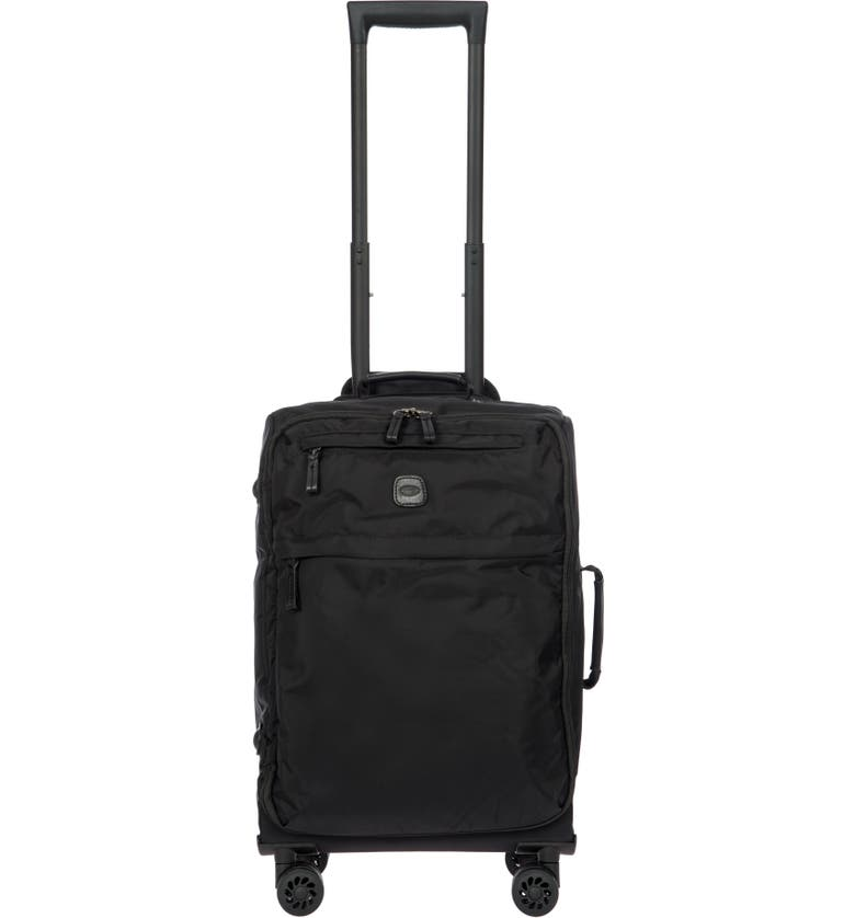 BRIC'S X-Bag 21-Inch Spinner Carry-On, Main, color, BLACK/ BLACK