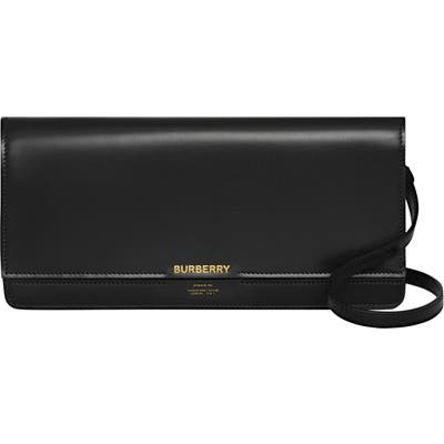 Burberry Hooke Horseferry Leather Clutch - Black
