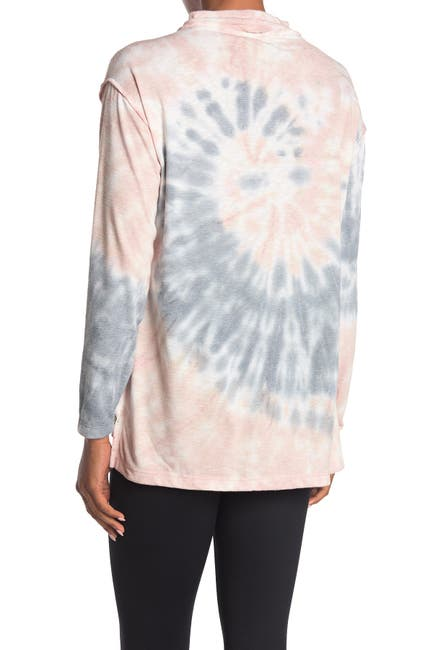 Image of Max Studio Tie-Dye Mock Neck Pullover