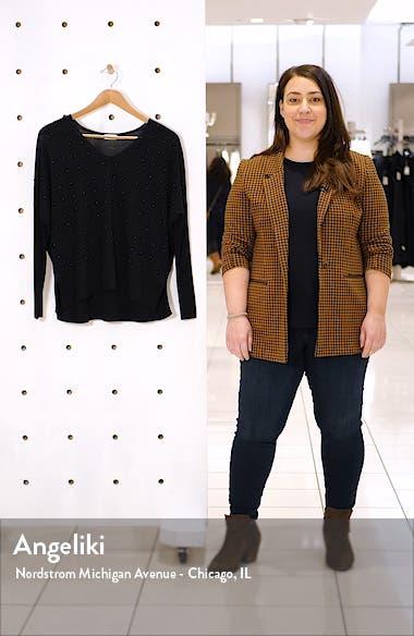 Studded V-Neck Merino Wool Sweater, sales video thumbnail