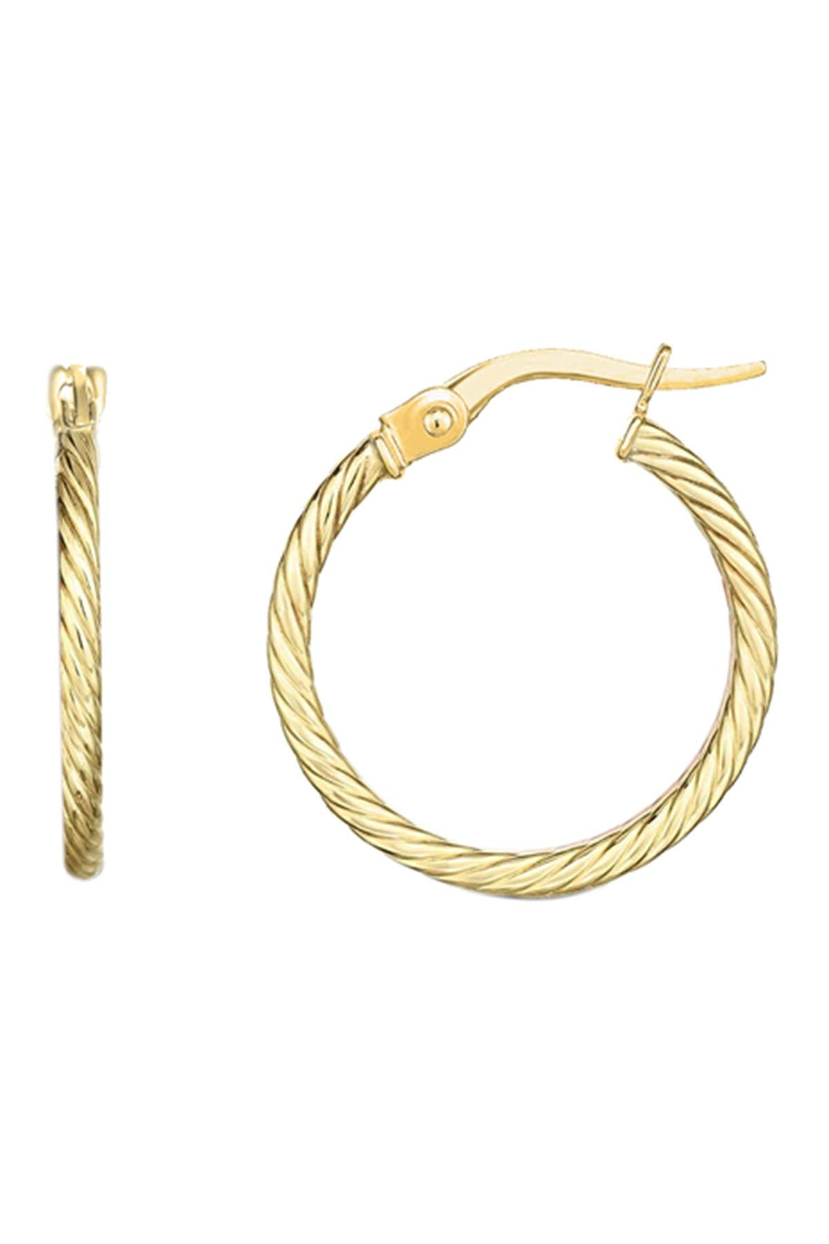 Image of Savvy Cie 18K Yellow Gold Vermeil 20mm Fluted Hoop Earrings