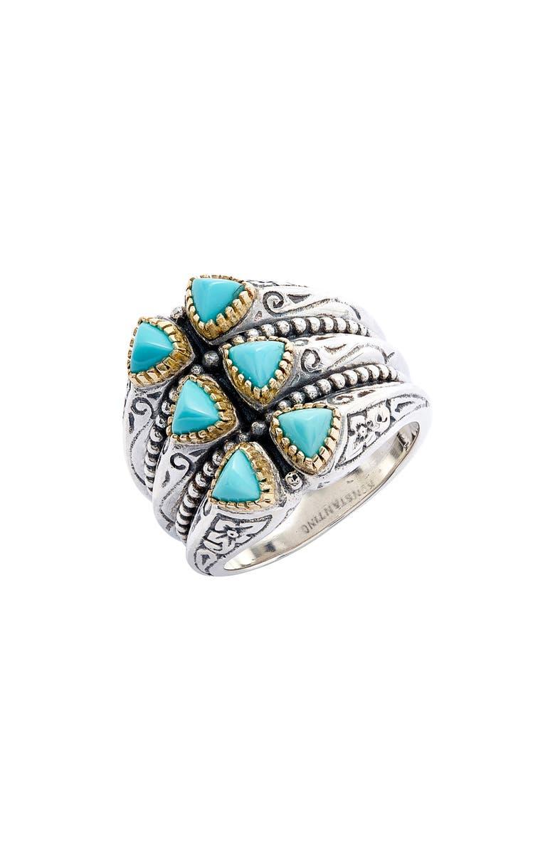 KONSTANTINO Trillion Verticale Semiprecious Stone Ring, Main, color, 440