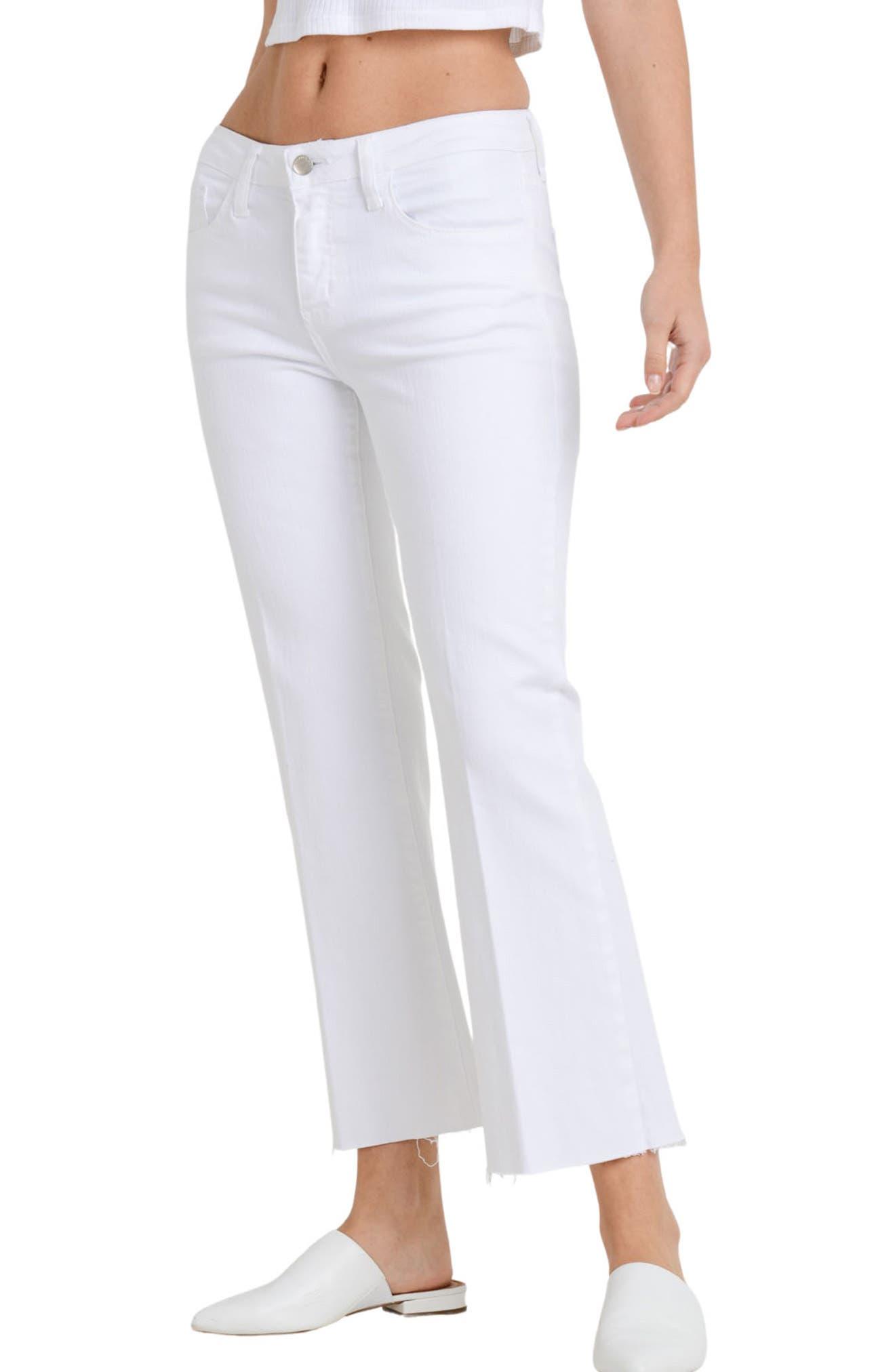 Sicily Crop Raw Hem Flare Jeans
