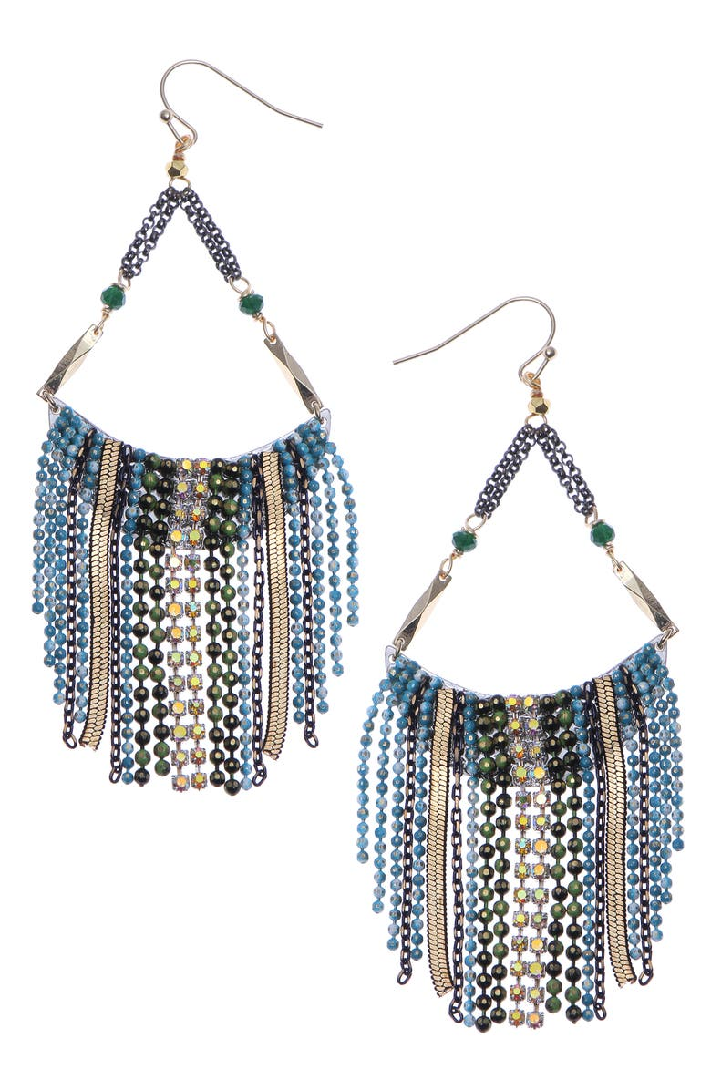 NAKAMOL CHICAGO Waterfall Drop Earrings, Main, color, 710