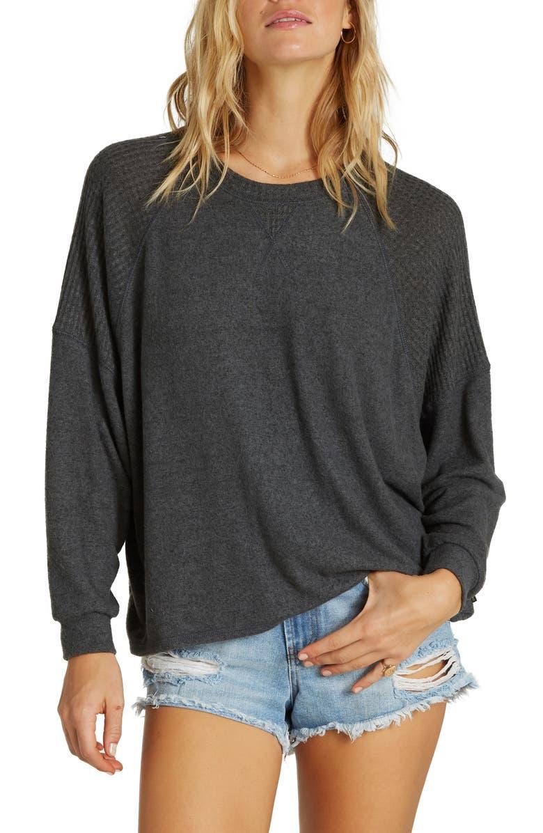 BILLABONG Head Start Sweatshirt, Main, color, OFF BLACK