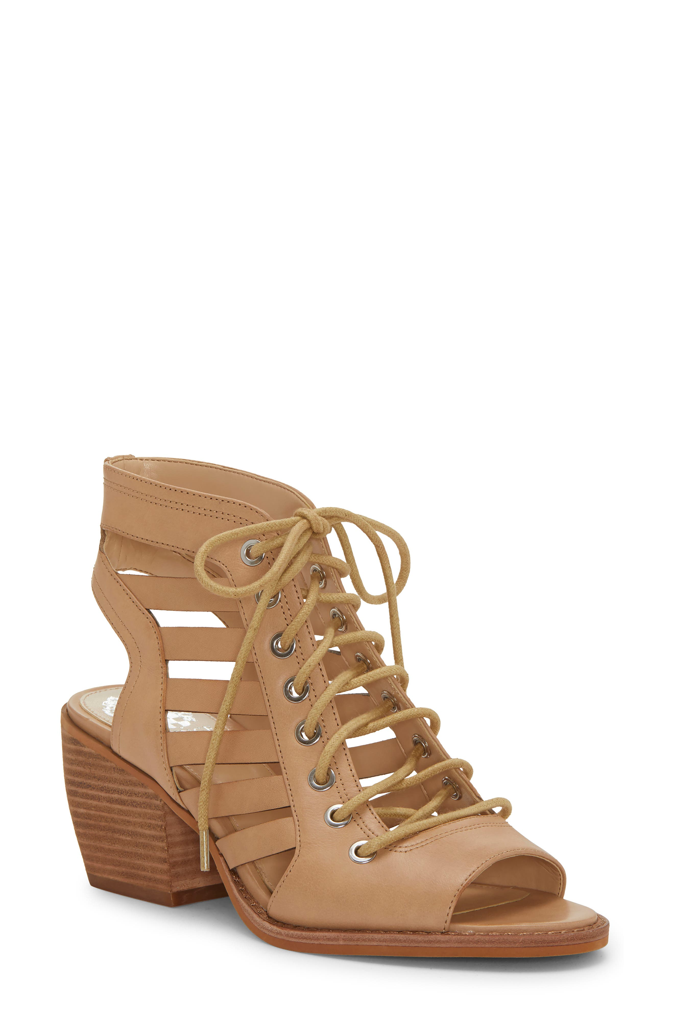 Vince Camuto Chesten Lace-Up Sandal- Beige