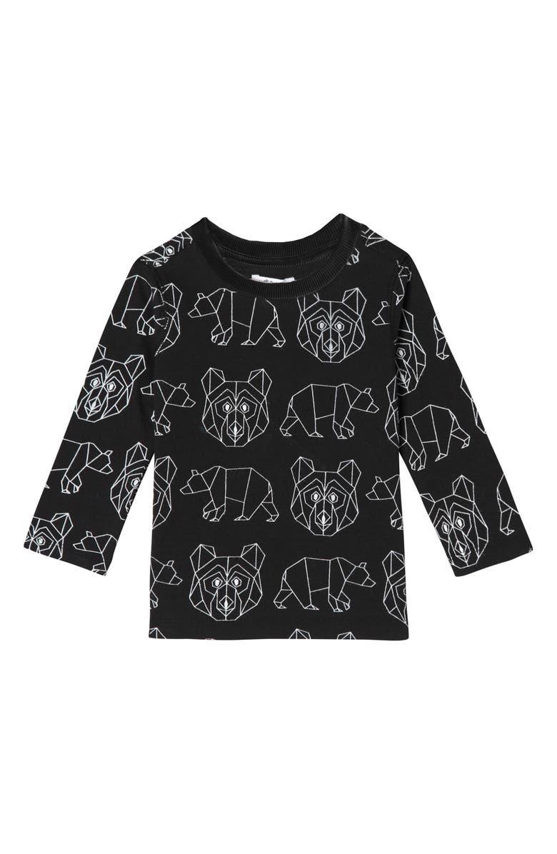 ART & EDEN Geometric Bear Organic Cotton T-Shirt, Main, color, 001