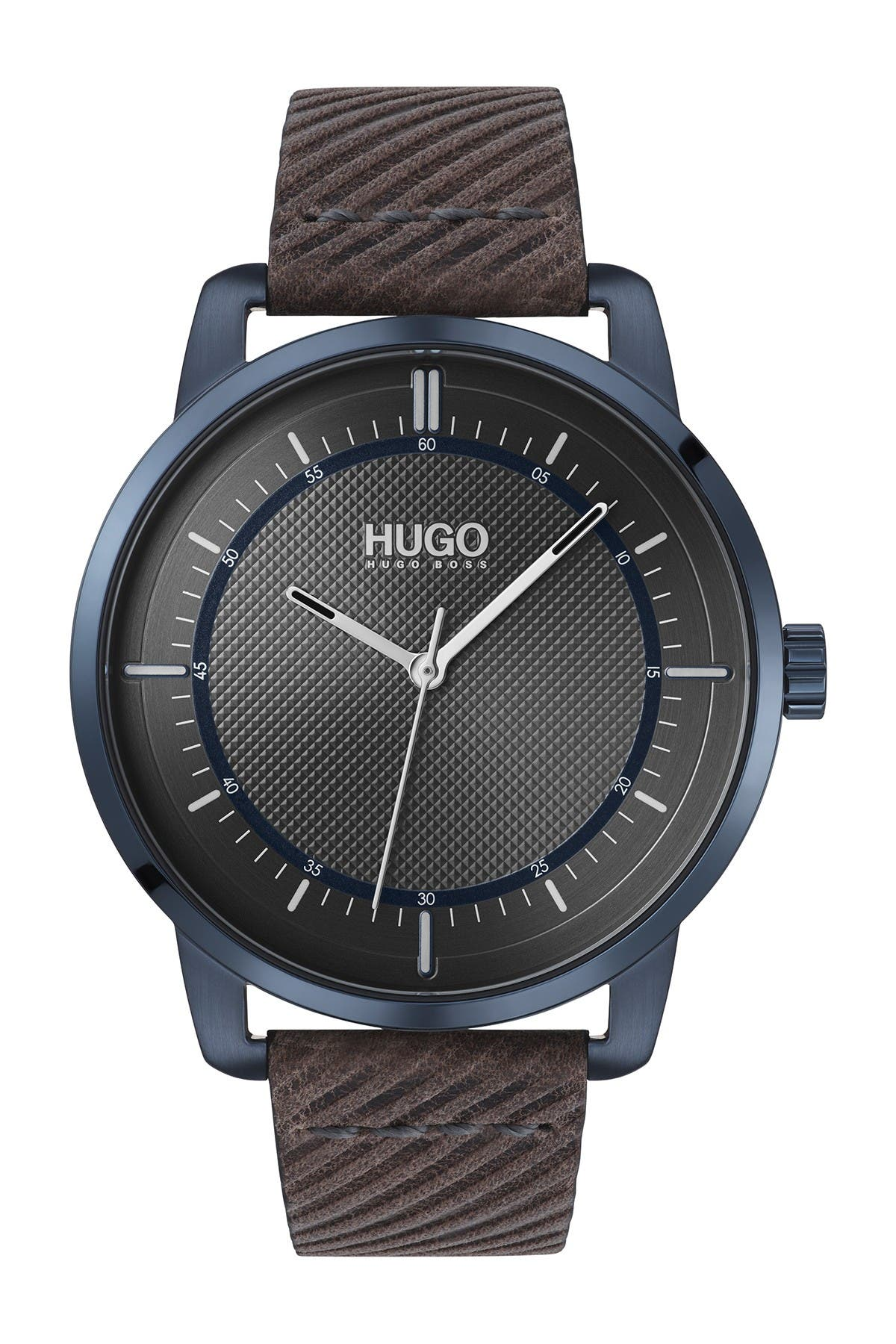 Image of BOSS Men's Reveal Leather Strap Watch