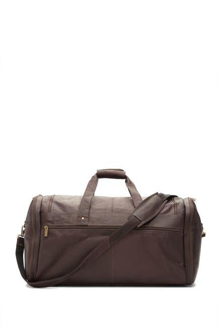 Image of DAVID KING & CO Extra Large Multi Pocket Leather Duffle Bag