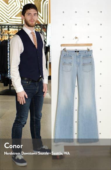Georgia Braided Welt High Waist Flare Jeans, sales video thumbnail
