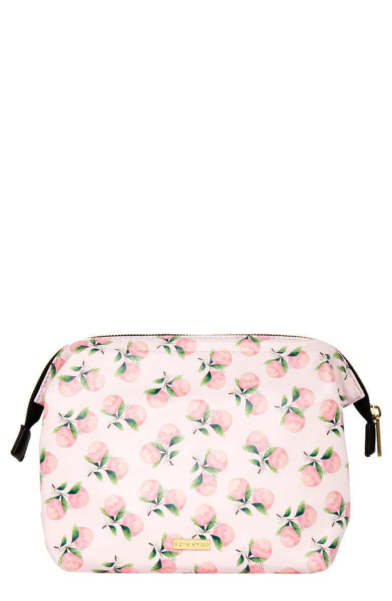 SKINNYDIP Peach Tree Wash Bag, Main, color, NO COLOR