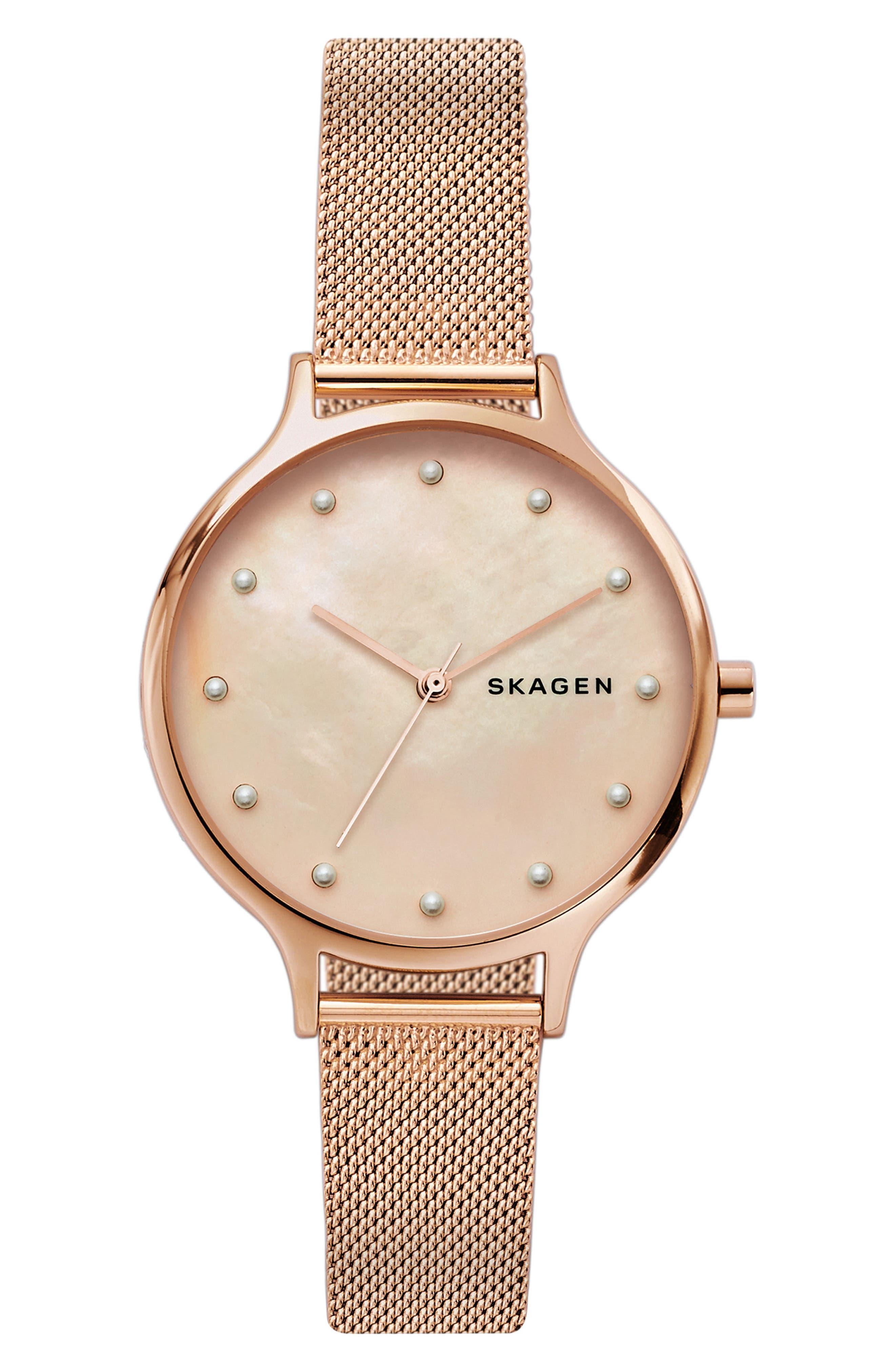 women's skagen anita mesh strap watch, 36mm