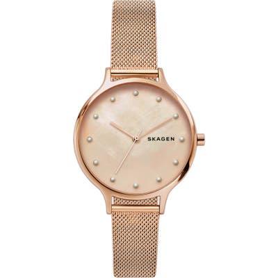 Skagen Anita Mesh Strap Watch,