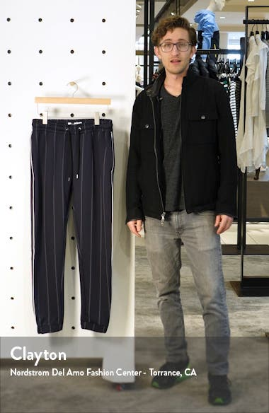 Skinny Fit Pinstripe Jogger Pants, sales video thumbnail