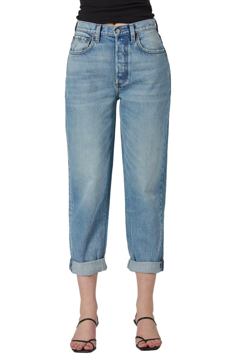 BOYISH JEANS The Toby High Waist Ankle Boyfriend Jeans, Main, color, GILDA