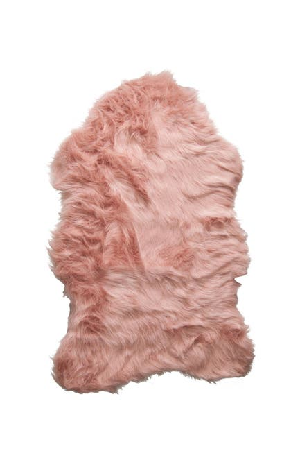 Image of LUXE Faux Fur Gordon Rug - 2ft x 3ft - Dusty Rose