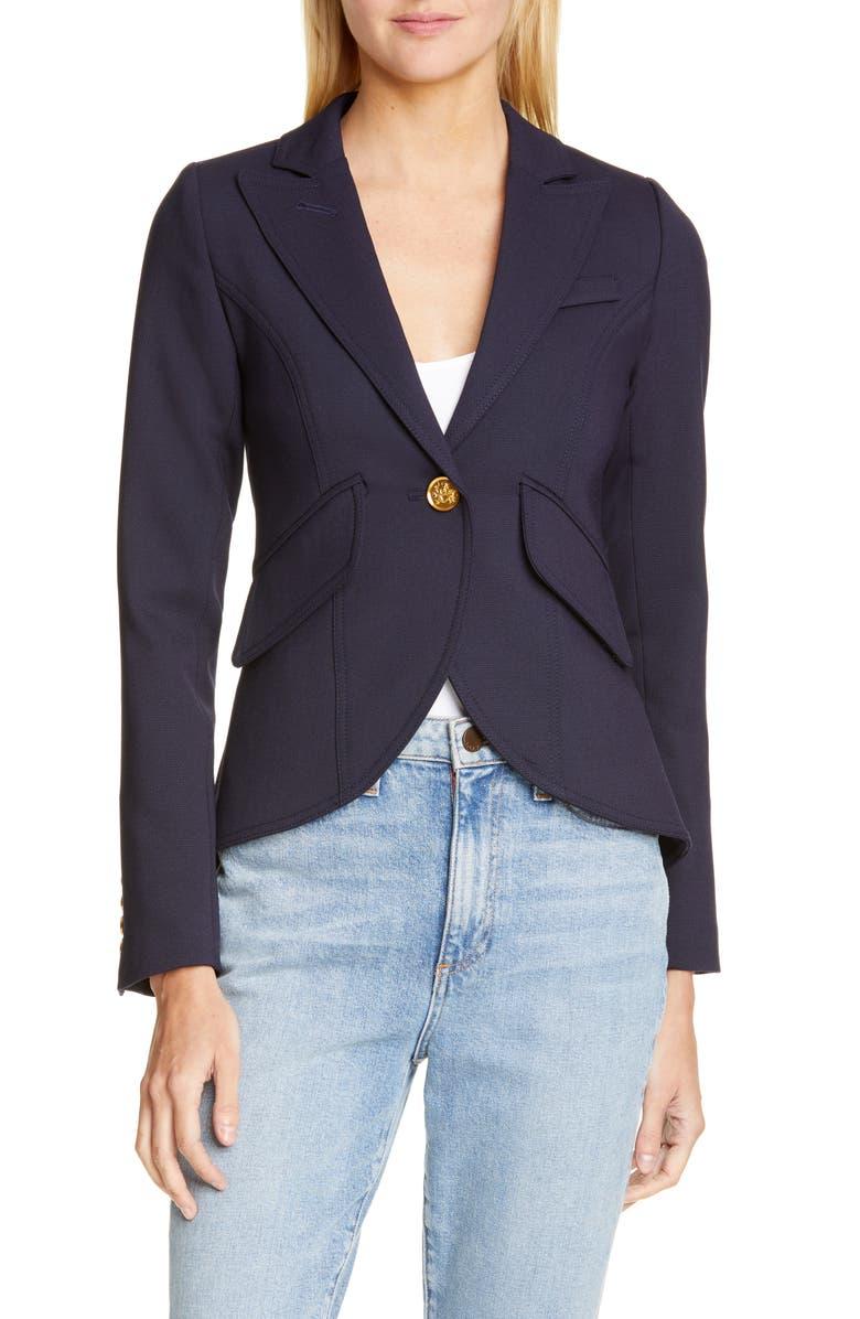 SMYTHE One-Button Blazer, Main, color, NAVY