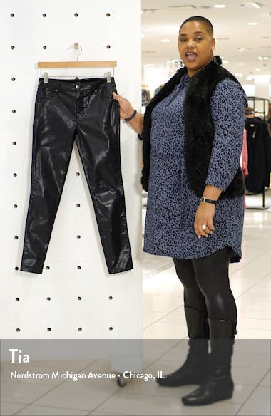 Shimmer Coated High Waist Ankle Skinny Jeans, sales video thumbnail